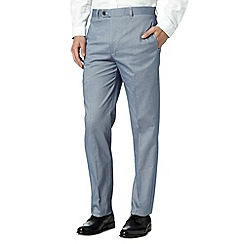 J by Jasper Conran - Designer blue zip fly oxford trousers