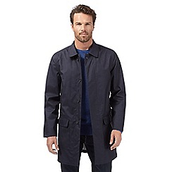 J by Jasper Conran - Big and tall designer navy waterproof mac coat