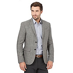 J by Jasper Conran - Big and tall grey wide herringbone jacket