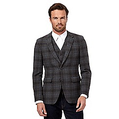 J by Jasper Conran - Grey tweed check blazer