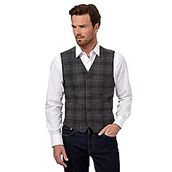 J by Jasper Conran - Grey wool blend tweed waistcoat