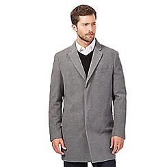 J by Jasper Conran - Big and tall grey lightweight epsom jacket