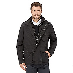 J by Jasper Conran - Big and tall black mock insert field jacket
