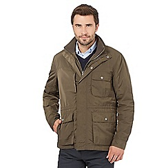 J by Jasper Conran - Big and tall khaki mock insert field jacket