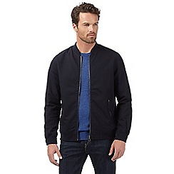 J by Jasper Conran - Big and tall designer navy harrington baseball jacket