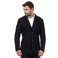 J by Jasper Conran - Navy quilted wool blend jacket