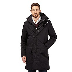 J by Jasper Conran - Big and tall black parka jacket