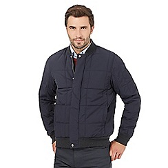 J by Jasper Conran - Big and tall navy quilted baseball jacket