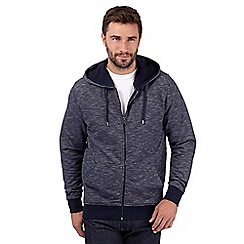 J by Jasper Conran - Big and tall designer navy textured hoodie