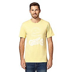 J by Jasper Conran - Designer yellow motorcycle graphic t-shirt