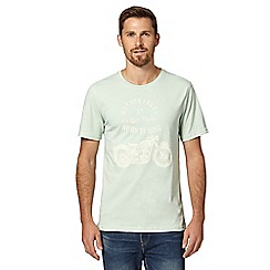 J by Jasper Conran - Designer light green motorcycle graphic t-shirt