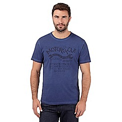 J by Jasper Conran - Big and tall designer navy 'motorcycle' print t-shirt