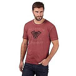 J by Jasper Conran - Designer red 'Authentic Motorcycles' crew neck t-shirt