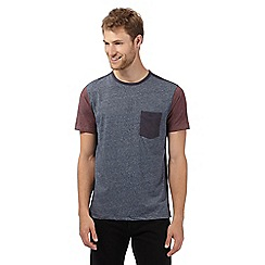 J by Jasper Conran - Big and tall navy panel t-shirt