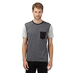 J by Jasper Conran - Big and tall grey panel t-shirt