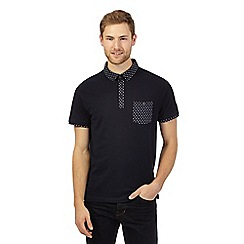 J by Jasper Conran - Big and tall navy square trim polo shirt