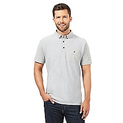 J by Jasper Conran - Big and tall designer grey herringbone polo shirt