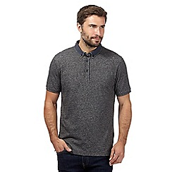 J by Jasper Conran - Dark grey button down polo shirt