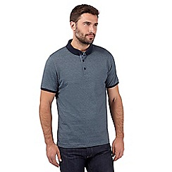 J by Jasper Conran - Big and tall navy micro stripe polo shirt