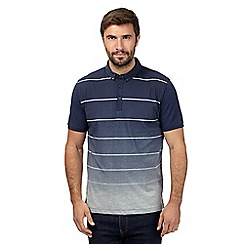 J by Jasper Conran - Navy faded striped polo shirt