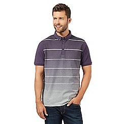 J by Jasper Conran - Big and tall designer purple fade out striped polo shirt