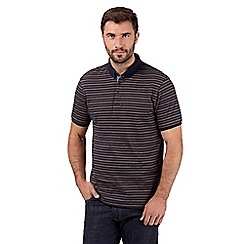 J by Jasper Conran - Big and tall designer navy striped polo shirt