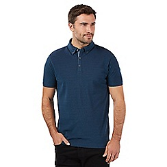 J by Jasper Conran - Designer dark turquoise mercerised pique polo shirt
