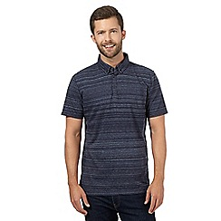 J by Jasper Conran - Navy faded stripe polo shirt