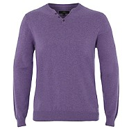 jasper conran Mauve notch neck jumper