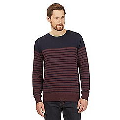 J by Jasper Conran - Maroon Merino wool striped jumper