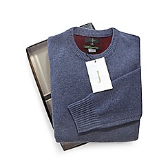 J by Jasper Conran - Blue Merino wool and cashmere blend jumper in a gift box