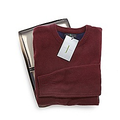 J by Jasper Conran - Red merino cashmere blend jumper in a gift box