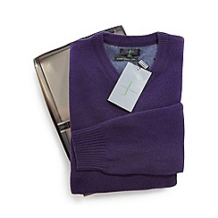 J by Jasper Conran - Purple Merino wool and cashmere blend jumper in a gift box