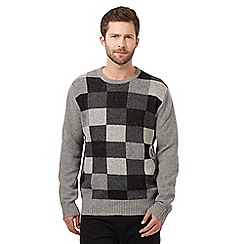 J by Jasper Conran - Big and tall grey checked jumper