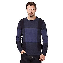 J by Jasper Conran - Big and tall blue box design jumper