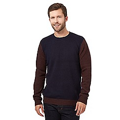J by Jasper Conran - Navy wool blend jumper