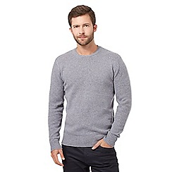 J by Jasper Conran - Grey wool blend layered neck jumper