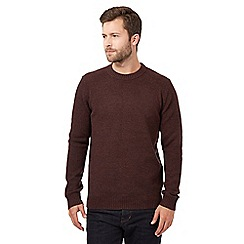 J by Jasper Conran - Maroon wool blend tubular neck jumper