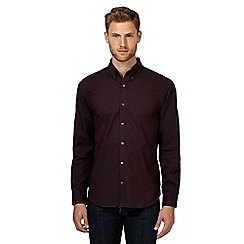 J by Jasper Conran - Dark purple textured jacquard shirt