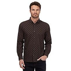 J by Jasper Conran - Big and tall black square checked shirt