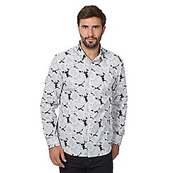 J by Jasper Conran - Black Floral Print Long Sleeve Shirt
