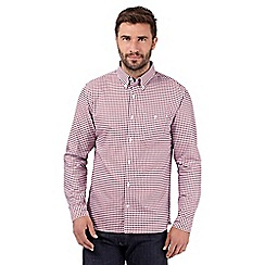 J by Jasper Conran - Big and tall designer red gingham checked long sleeved shirt