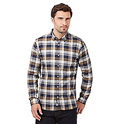 J by Jasper Conran - Big and tall navy highlighted check shirt