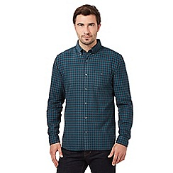 J by Jasper Conran - Big and tall green brushed gingham shirt