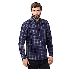 J by Jasper Conran - Big and tall navy checked shirt