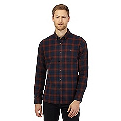 J by Jasper Conran - Navy checked long sleeved shirt
