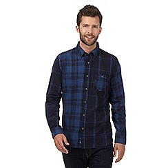 J by Jasper Conran - Big and tall blue mixed check shirt