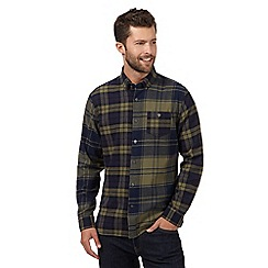 J by Jasper Conran - Big and tall khaki mixed check shirt