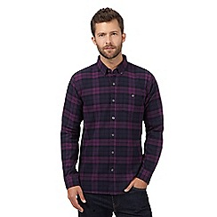 J by Jasper Conran - Purple checked cotton shirt