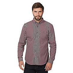 J by Jasper Conran - Red Cube Print Shirt